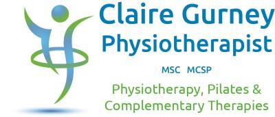 Claire Gurney, Physio, Pilates, Health and Fitness company logo